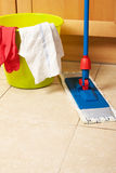 House cleaning with the mop Royalty Free Stock Photos