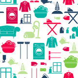 House Cleaning Seamless royalty free illustration