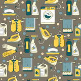 House cleaning seamless vector pattern. Royalty Free Stock Photos