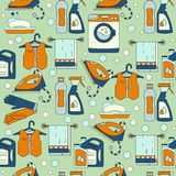 House cleaning seamless vector pattern. Stock Images