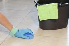 Daily house cleaning Royalty Free Stock Photography