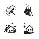 House cleaning services  logo Stock Image