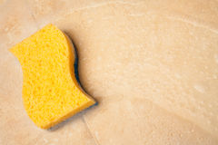 House cleaning with sponge Royalty Free Stock Photography