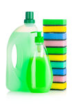 House cleaning supplies Stock Photography