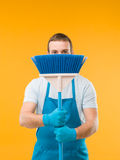 House cleaning surprise Royalty Free Stock Images