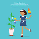 House Cleaning Template Web Page Stock Images