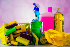 House cleaning theme Stock Images