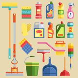 House cleaning tools vector Royalty Free Stock Photos