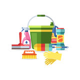 House cleaning tools vector vector illustration