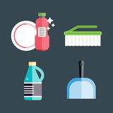 House cleaning tools vector Royalty Free Stock Photo
