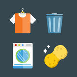 House cleaning tools vector Stock Photo