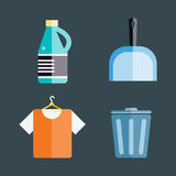 House cleaning tools vector Royalty Free Stock Image