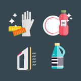 House cleaning tools vector Royalty Free Stock Photography