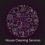 House cleaning vector card. Stock Image