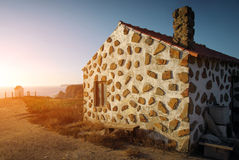 House on the Cliff Royalty Free Stock Photography