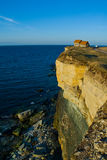 House on Cliff Edge Royalty Free Stock Photo