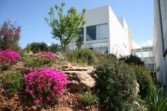 House on cliff in Mondim de Basto, Portugal. White building on landscaped hill in Mondim de Basto, Portugal Stock Photography