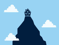 House on Cliff Royalty Free Stock Photos