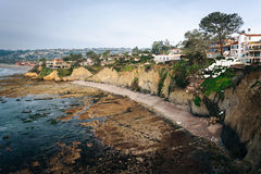 House on cliffs along the Pacific Ocean in La Jolla, California. House on cliffs along the Pacific Ocean in La Jolla, California royalty free stock photo