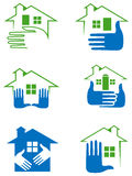 House clip Art set. Line art house clip art set with isolated white background Royalty Free Stock Image