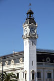 House of the clock, harbour in Valencia, Spain Stock Photo