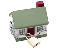 House closed in chain and padlock Stock Photography