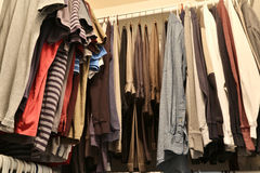A house closet for clothing royalty free stock photos