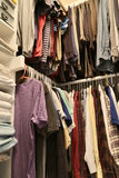 A house closet for clothing stock photography