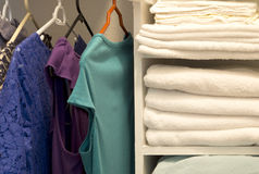 A house  closet for clothing and towel Royalty Free Stock Photography