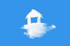House cloud in blue sky Stock Image