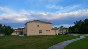 House and cloud. Taken in Tampa Stock Image