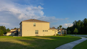 House and  cloud. House and cloud, taken in Tampa Stock Photos
