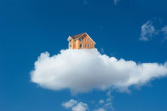 House clouds. A house in a cloud Royalty Free Stock Photos