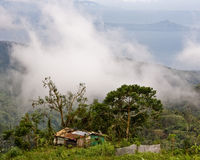 House in the clouds. A house in Tagaytay, Phillipines overlooking the valley below Royalty Free Stock Image