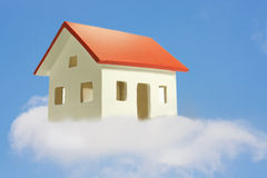 House in the clouds Royalty Free Stock Image