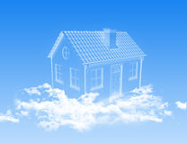 House of clouds in the sky Stock Photos