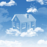 House of clouds in the sky royalty free stock photo