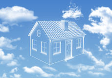 House of clouds in the sky Stock Image