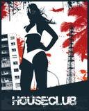 House Club Beach Girl. Vector Illustration Stock Images