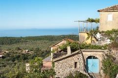 House On The Coast Of Albania Royalty Free Stock Photo