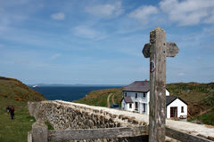 A house on the coastal path Stock Image