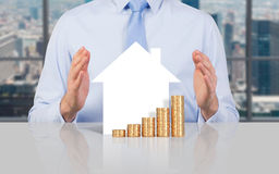 House and coin Royalty Free Stock Photos
