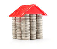 House of coins. Money house made from lots of coins Royalty Free Stock Image