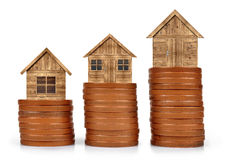 House on coins Stock Image
