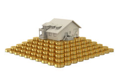 House on coins pyramid Royalty Free Stock Image