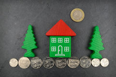 House On Coins Royalty Free Stock Photography
