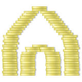 House of coins Royalty Free Stock Photography