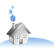 House and cold Royalty Free Stock Photography