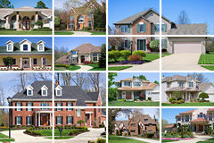 House collage stock photo