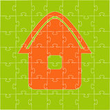 The house collected from puzzles. Vector illustration Stock Photography